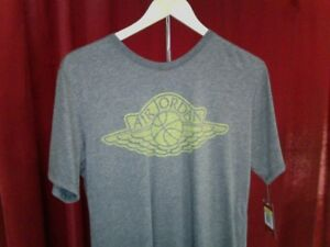 6f3cebc8633 air jordan SPORTSWEAR ICONIC WINGS T-Shirt GREY US MENS SIZES 834476 ...