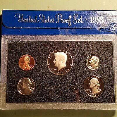 1983-S US Proof Set Half Quarter Dime Nickel /& Cent