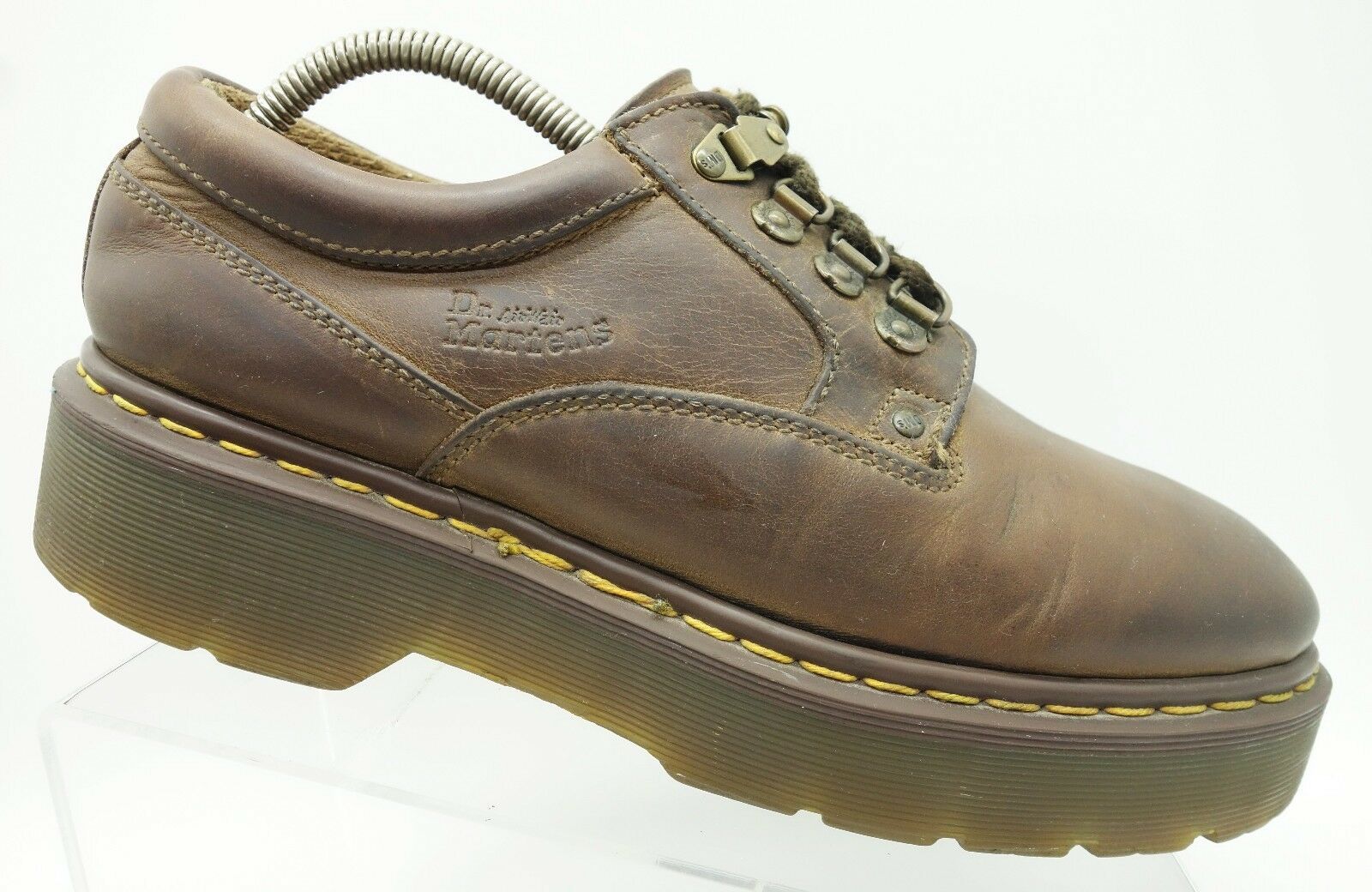 Dr. Martens England Brown Leather Oxfords Casual Women's shoes 9 UK   11 US