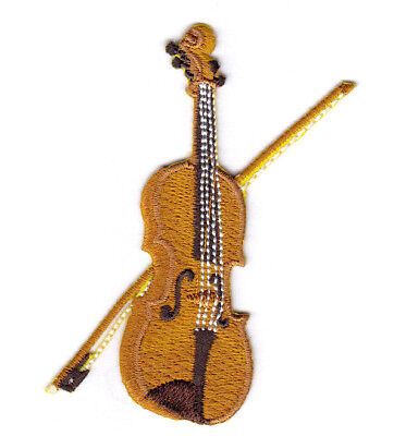 Violin Fiddle Music Instrument Applique Patch Iron on