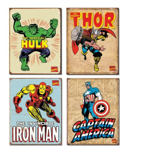 Thor Iron Man et C.... Vintage Super-héros glacoide Bundle-L/' incroyable Hulk