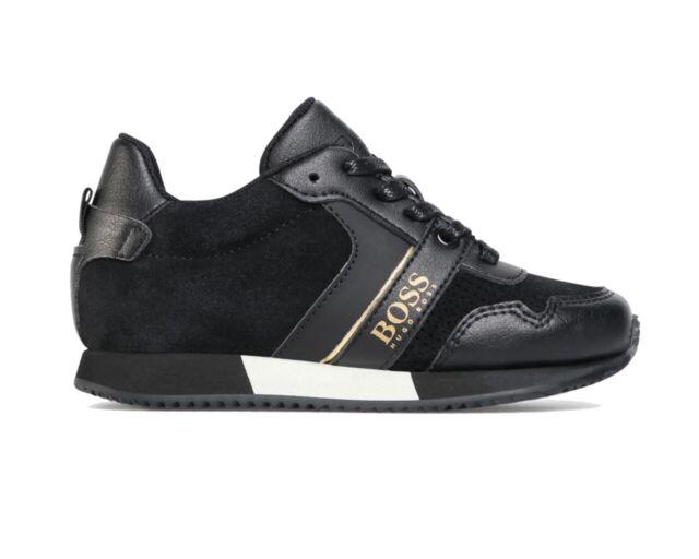 Kids Hugo Boss J29096 09b Black Velcro