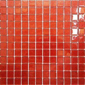 Glitter rosso arancio vetro caratteristica muri bagno - Bagno mosaico rosso ...