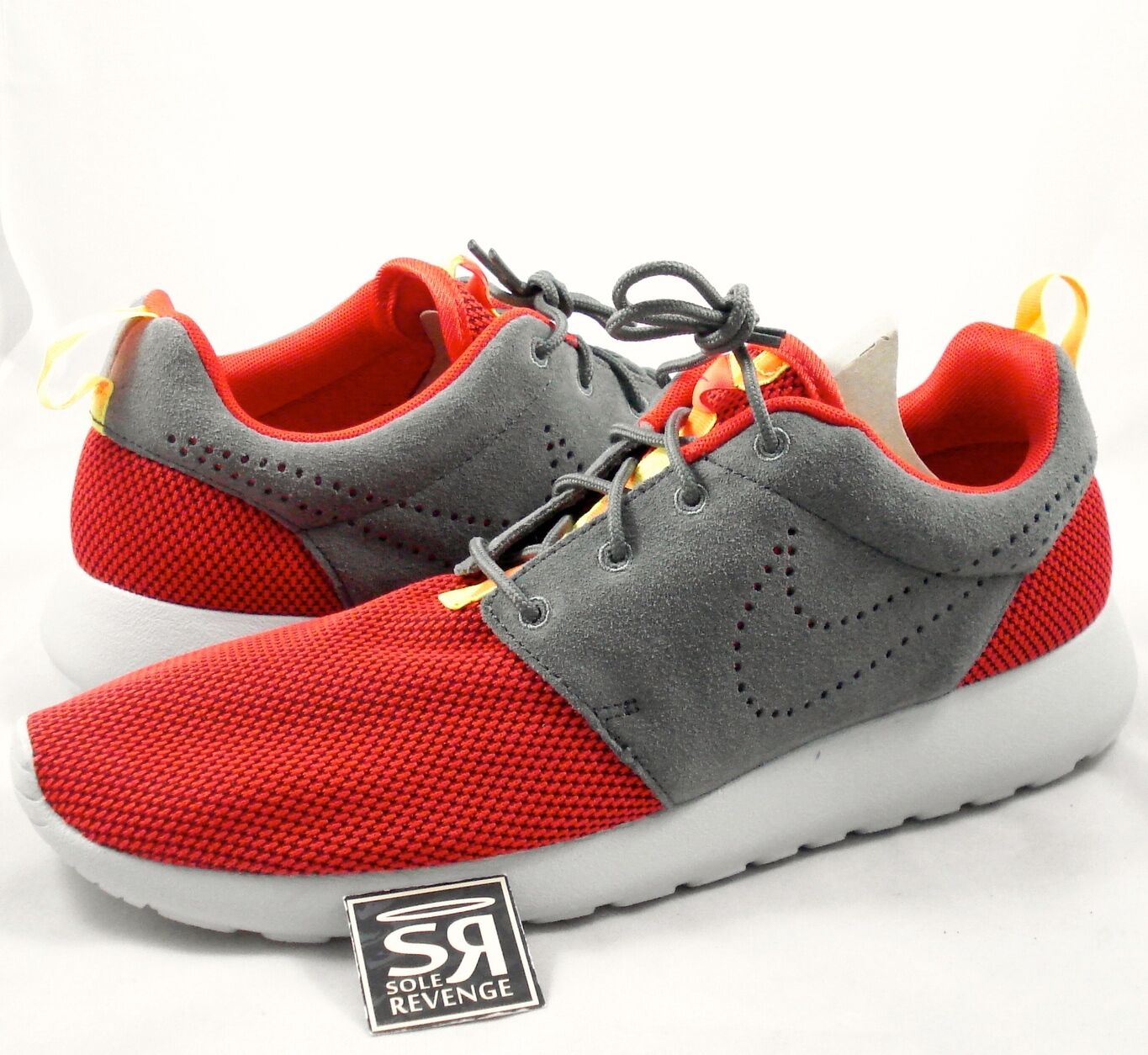 NEW Mens Nike Roshe Run Shoes Chilling Red/Dark Pewter/Crimson 511881 608