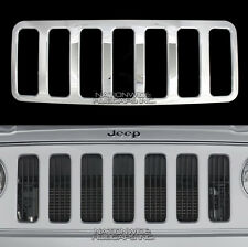07-10 Jeep Patriot CHROME Snap On Grille Overlay Grill Cover Front Trim Insert