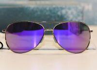 Smith Optics Rockford In Gunmetal Frame W Purple Sol-x Mirrored Lens