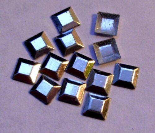 100 hotfix studs formes carré 4mm Choix de Couleur