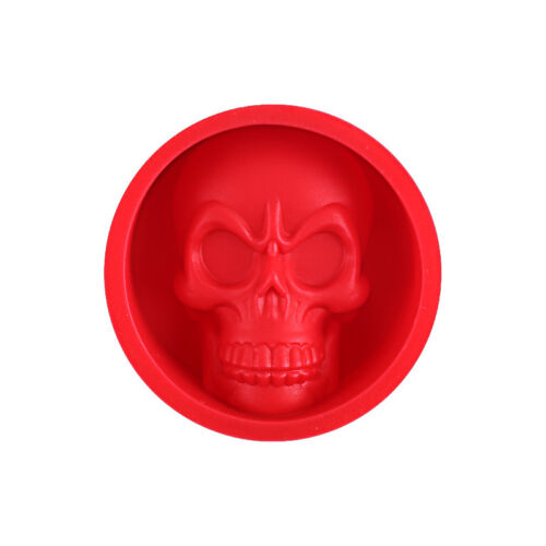 Silicone Ice Tray Mold Funny Skull Shape Muffin Cake Chocolate Baking Mould Tool