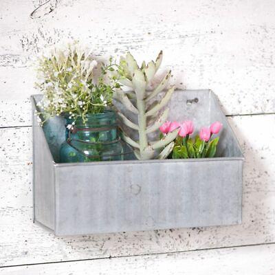 Farmhouse new tin Kitchen wall shelf in weathered zinc finish