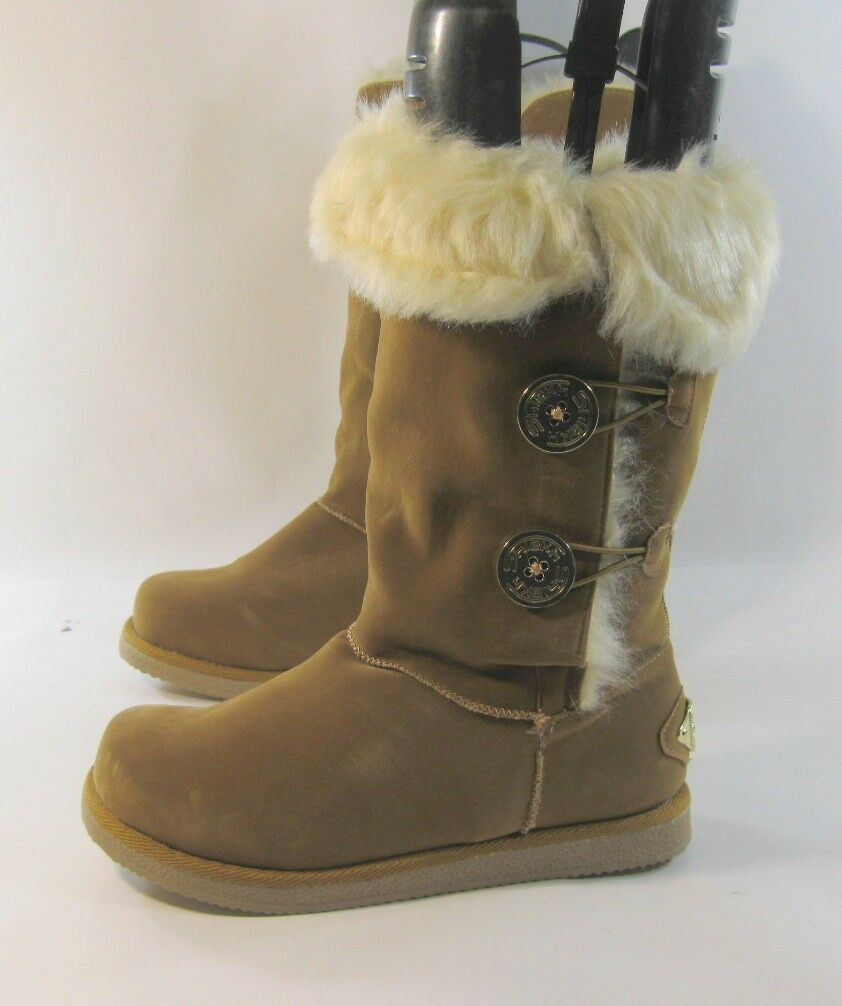New ladies  Browns Round Toe  Winter Mid-Calf Boot Fur On Top Inside Size 8