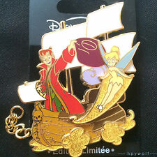 Paris Disney PETER PAN & TINKER BELL PIRATE SHIP Paris Train Series LE 900 Pin