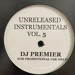 DJ-PREMIER-UNRELEASED-INSTRUMENTALS-VOL-5-VINYL-LP-1998-RARE-GANG-STARR