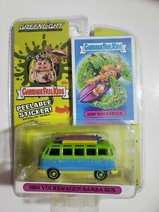 Greenlight 2021 Poubelle Seau Enfants 1964 Volkswagen Samba Bus Poursuite