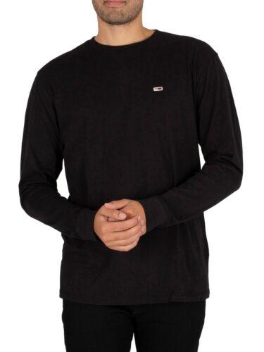 noir Tommy Jeans Homme Classique Manches T-shirt