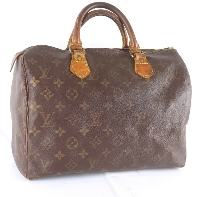 936280c07c3f Auth LOUIS VUITTON SPEEDY 30 Hand Bag Doctor Purse Monogram M41526 Brown