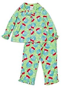 b7f412d3059f Image is loading Snowglobe-Flannel-Christmas-Pajamas-Girls-Warm-Winter- Sleepwear-