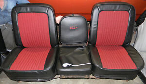 Bucket Seats For Chevy Truck >> Details About 67 68 C10 Chevy Truck Houndstooth Buddy Bucket Seat Covers