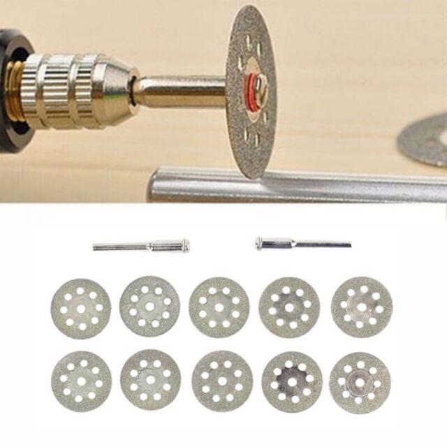 10PCS Diamond Cutting Wheel Saw Blades Cut Off Discs Set for Rotary Tool