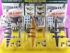 "F-Toys 1/144 "" Lockheed P-38J Lightning ""Twin-Engine vol.1 Set of 3 WW2 Aircraft"