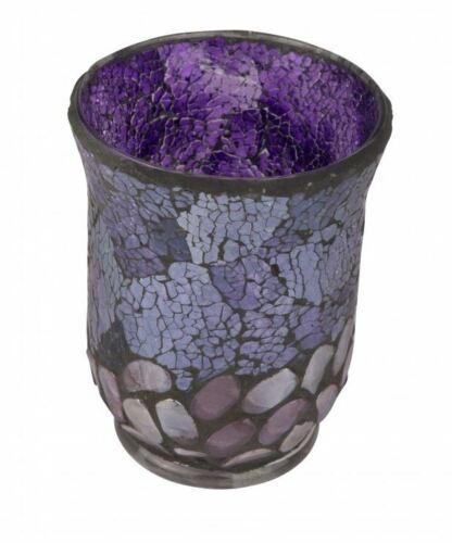 Purple Pebbles Cello Votive Candle Holder