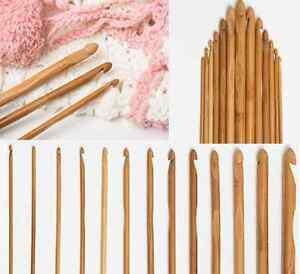 Bamboo-Handle-Crochet-Hook-Knit-Weave-Yarn-Craft-Knitting-Needle12-size-15cm-set