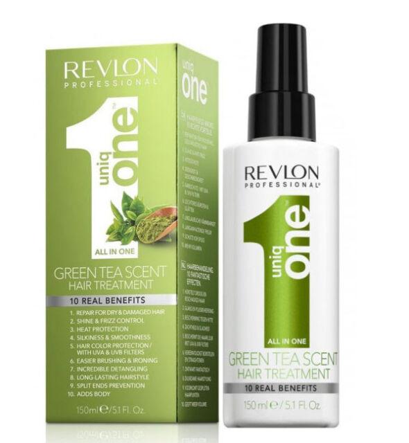 REVLON GREEN TEA ALL IN ONE HAIR TREATMENT --- UNIQ 1 --- 150ML
