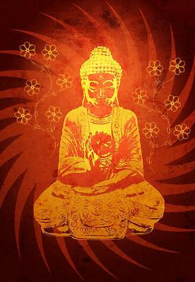 Buddha Picture Buddhist Buddhism Oriental Mandala Monk Asian Framed Print