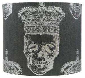 Skull Lampshade Ceiling Light Shade Girls Bedroom Silver Royal Skulls Room Decor
