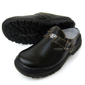 Men Chef Shoes Cowhide Leather Kitchen Safety Shoes Cook Oil Resistant | EBay