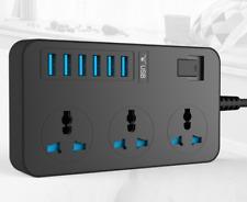 AM/_ HOT EU//UK//US Plug 3//4//5 Power Strip Sub-control Switch Surge Protector Socke
