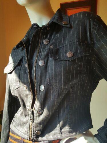 Gaultier Veste 38 Tailleur Jean Ensemble M Paul Rayures Jupe Jean's Et Fines UOxW4n8H