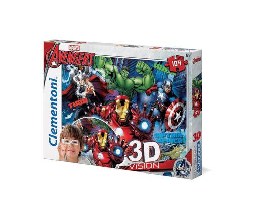 Clementoni Marvel Edition 3D Vision Puzzle Avengers Assemble Kinder Spielzeug