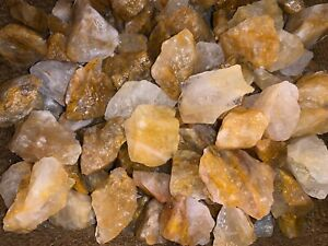 2000-Carat-Lots-of-Citrine-Rough-Plus-a-FREE-Faceted-Gemstone