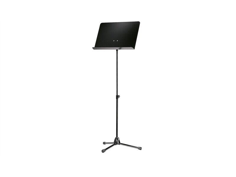 König & Meyer 118 1 Orchesternotenpult - Stativ schwarz, Aluplatte schwarz