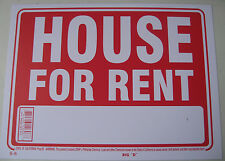 """House, Apt, or Condo for rent signs 9""""x12"""" Red flexible plastic 12606"""