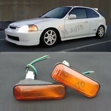 96-00 Civic Amber Flat Side Marker Lights Lamp Replacement Fender JDM SI EK