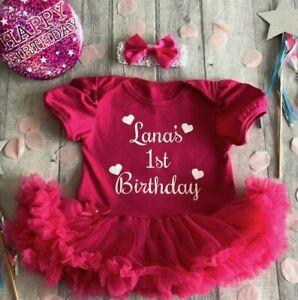 PERSONALISED-1ST-BIRTHDAY-TUTU-Romper-Baby-Girl-White-Glitter-Love-Heart-Design