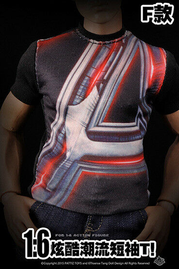 1/6 The Avengers Captain America fashion T-shirt   for Soldier Action Figure