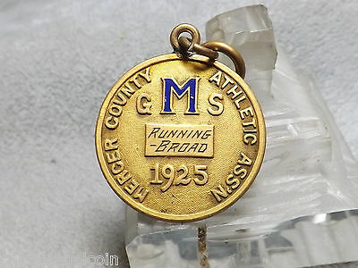 1925 Mercer County Athletic Ass'n Running Broad GMS Medal