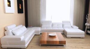 Détails sur Canapé D\'Angle Intérieur de la Maison en Cuir XXL Design  Canapés Wolfhagen