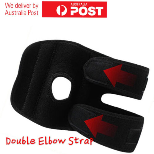 7946Adjustable Strap Wrap Compression Elbow Support Protector Brace Metal Spring