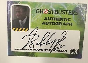 2016-Cryptozoic-GHOSTBUSTERS-Bobby-Brown-Mayor-039-s-Doorman-Auto-Autograph-Card