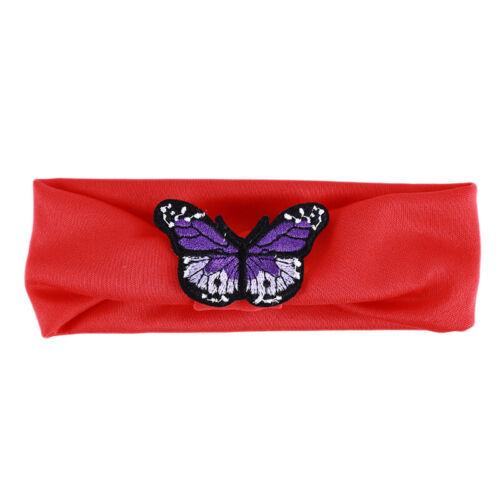 Baby Hair Headband Butterfly Elastic Band Stretchy Hairband Girls Kids Toddler J