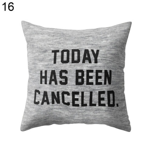 EG/_ Letter Floral Print Square Throw Pillow Case Cushion Cover Sofa Decor Novelt
