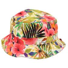 item 2 Tropical Flower Hawaiian Pattern Sun Bucket Fitted Small Medium Hat  Beach Outdoo -Tropical Flower Hawaiian Pattern Sun Bucket Fitted Small  Medium Hat ... 021c2dd04a13
