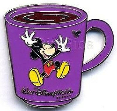 WDW Disney pin Coffee Mugs -Minnie Mouse Cast Lanyard Collection 4