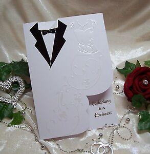 Das Bild Wird Geladen Einladung Zur Hochzeit Hochzeitskarte Einladung  BRAUTPAAR Schwarz Weiss