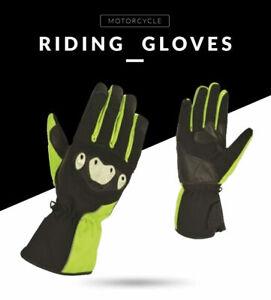 New Textile Waterproof Hivis Thermal Motorcycle Motorbike Full Gloves Black