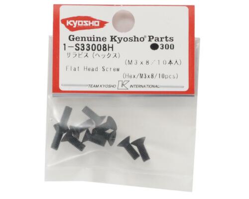 KYO1-S33008H Kyosho 3x8mm Flat Head Hex Screw 10