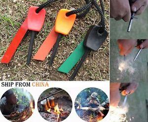 1Pcs Survival Magnesium Flint /& Steel Striker Fire Starter Lighter Stick Camping